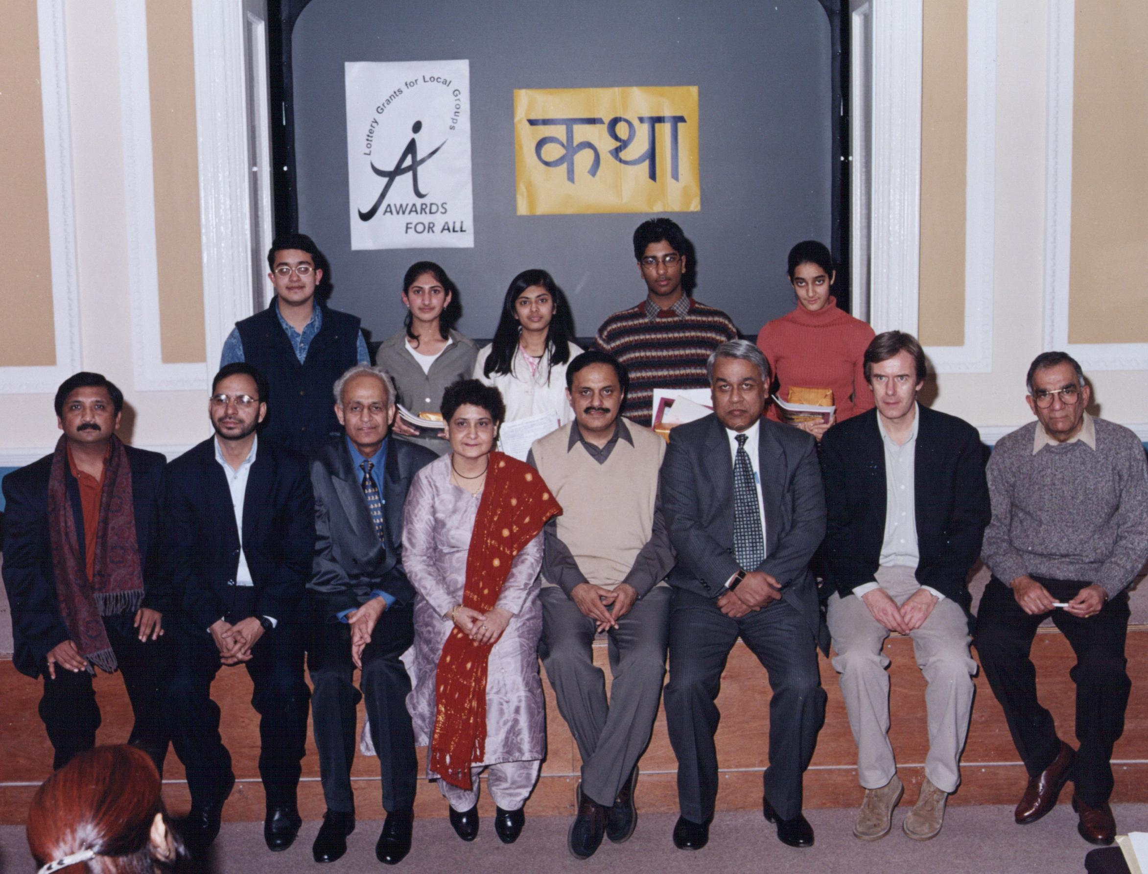 The five winners at the Hindi Kahani Karyashala