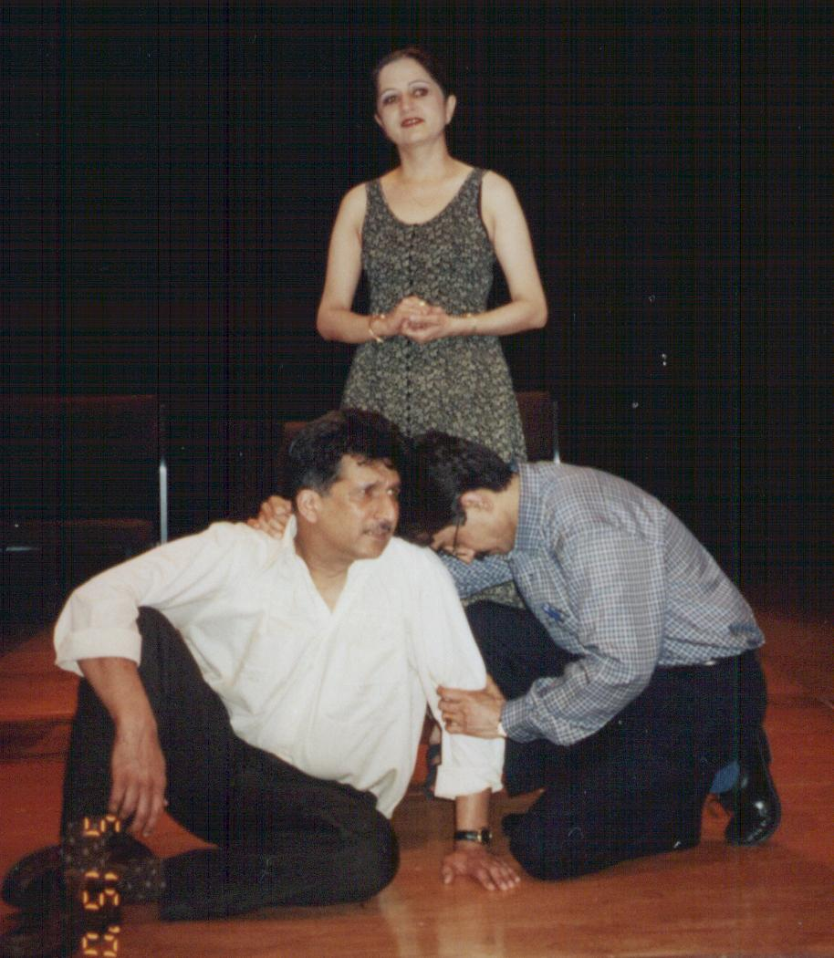 A dramatic moment in the play
